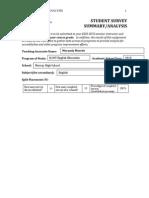 student survey analysis paper