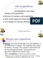 Merger and Acquisition Problem
