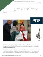 ¿Qué Se Sabe Del Mexicano Que Irrumpió en La Entrega Del Nobel de La Paz_ - BBC Mundo