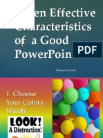seven effective characteristics of  a good powerpoint