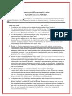 formalobservationreflection ss arts integrated