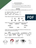 Examen de Español primaria 2014 2015