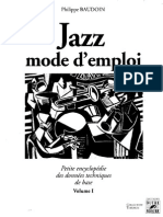 Jazz Mode d'Emploi Vol 1 - Baudoin