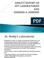 Sustainability Report on Dr Reddy Laboratories And