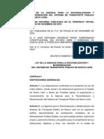 Ley de La Agencia Para Racionalizacion y Moderniza