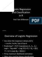 Logistic Regression and Classification in R