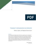 The Politics of Transit in Denver