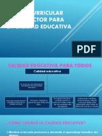 Diseño Curricular Como Factor Para La Calidad Educativa