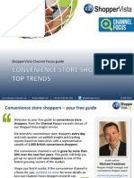 Convenience Store Shopper Stop Trends