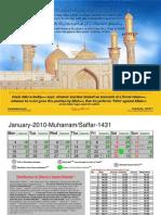 Islamic calendar 2010