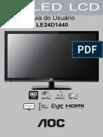 Doc Aoc Manual Le24d1440 Portuguese Brazil v1 24