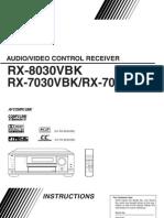 JVC RX-8030VBK Instruction Manual