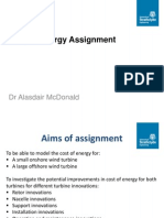 Cost of Energy Assignment - 2014