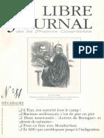 Libre Journal de la France Courtoise N°084