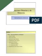 Operaciones Binarias y de Memoria
