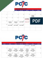 PCYC Calendar