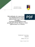 Metodología de espectroscopia sus fundamentos teóricos, aplicaciones en el artículo científico Geology,geochemistry,and geophysics of the Moon y otras aplicaciones.pdf