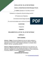 Reglamento Ley de Factoraje