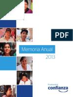 Memoria Financiera Confianza 2013