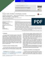 Listas de Verificación de Seguridad Quirúrgica en Los Países en Desarrollo
