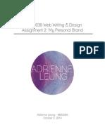 web design assignment 2
