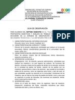 Guia de Observacion Secundaria 2014