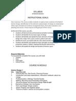 interior design syllabus