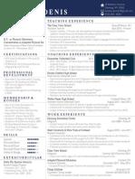 daniela denis resume