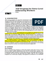 An ESP Program for Entry-Level Manufacturing Workers