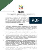 Declaracion de La Alianza Del Pacifico Sobre La Cop 20 de Lima