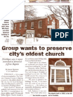 2/13/2008 Woodward Talk Article about Ferndale's Oldest Church