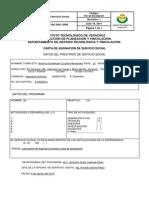 Carta de Asignacion de Servicio Social