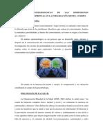 Bases Epistemologicas de Las Dimensiones Biosicosocial