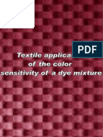 Textile Application of the Colour Sensitivity of a Dye Mixture
