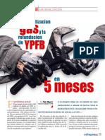 La Industrializacion Del Gas y La Refundacion de YPFB en 5 Meses Hidrocarburos