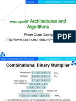 Multiplier Architectures and Algorithms (1)