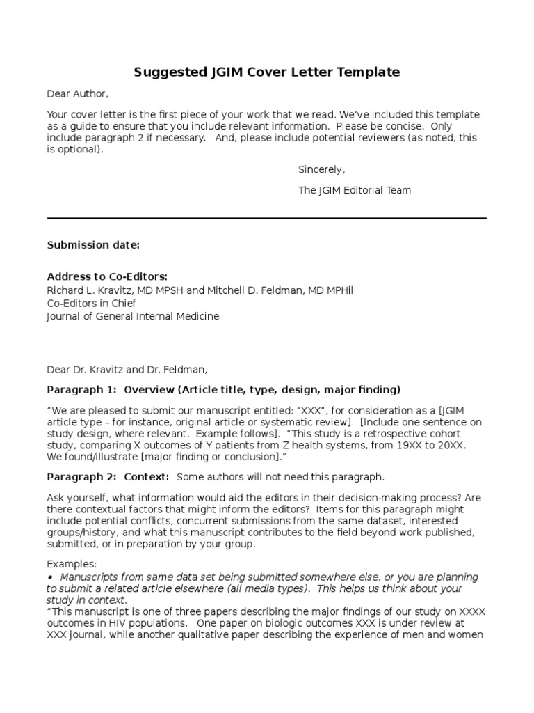 Jgim Cover Letter Template National Institutes Of Health Conflict Of Interest