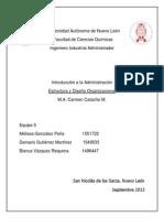 Administracion Estructura y Diseño Organizacional.docx