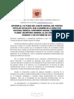Informe Al 156 Pleno Del Comitu00c9 Central Del Partido Popular Socialista (Bueno) 1