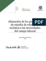 Alineación de Los Programas de Estudio de Educación Turística a Las Necesidades Del Campo Laboral