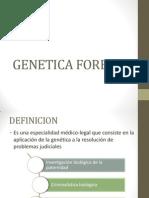 GENETICA FORENSE Y PROBLEMAS DE PATERNIDAD DISCUTIDA