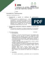 Agenda Conversatorio Barranca