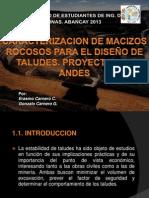 Caracterización de Macizos Taludes en roca (ERASMO CARNERO - UNA).pptx