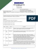 LING427 Lesson Plan 02