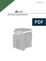 Bizhub 215 Copy Operations User Guide