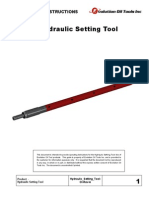 Hydraulic Setting Tool Operating Instructions
