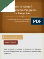 Basics of Aircraft Maintenance Programs for Financiers