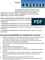 Administrative Associate Job Description