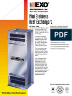 Exothermics - Mini Stainless Steel Heat Exchanger - Brochure