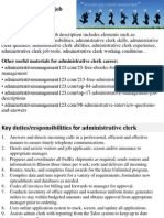Administrative Clerk Job Description